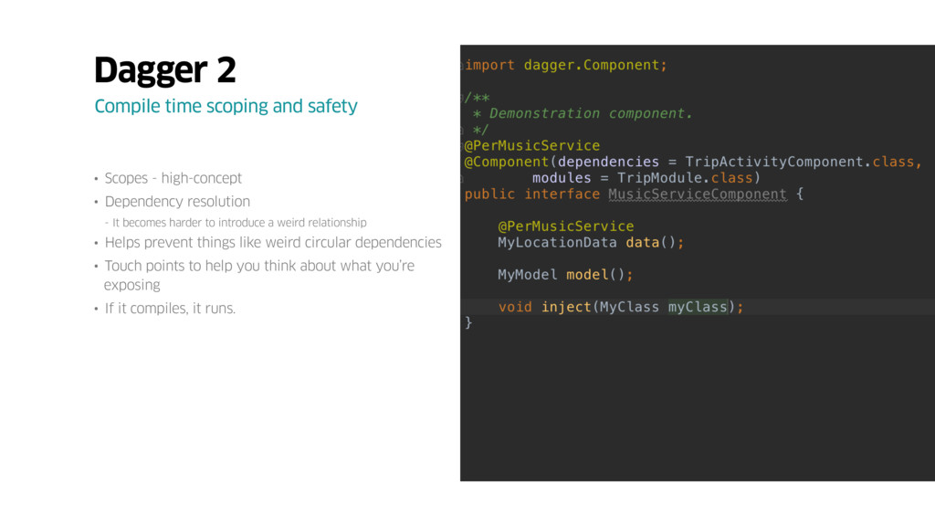 • Scopes - high-concept • Dependency resolution...