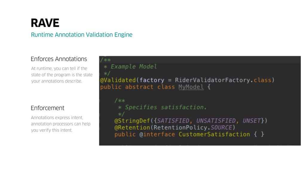 RAVE Runtime Annotation Validation Engine Enfor...