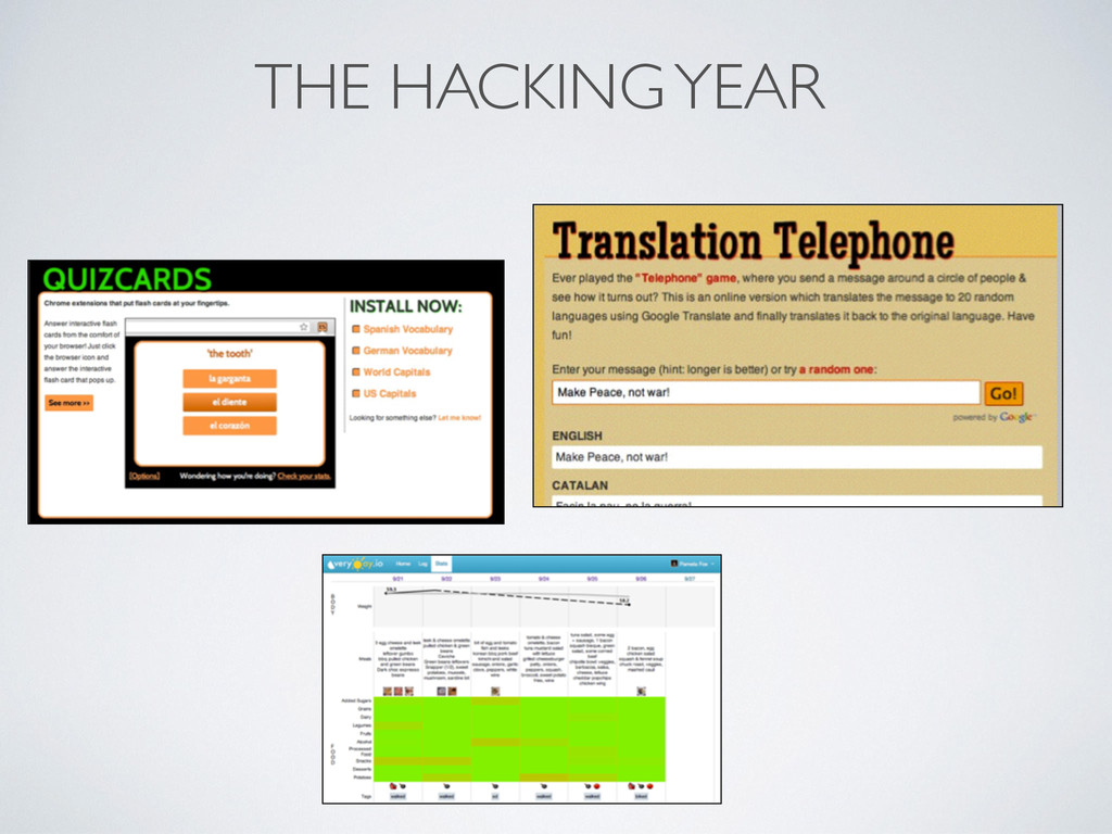 THE HACKING YEAR