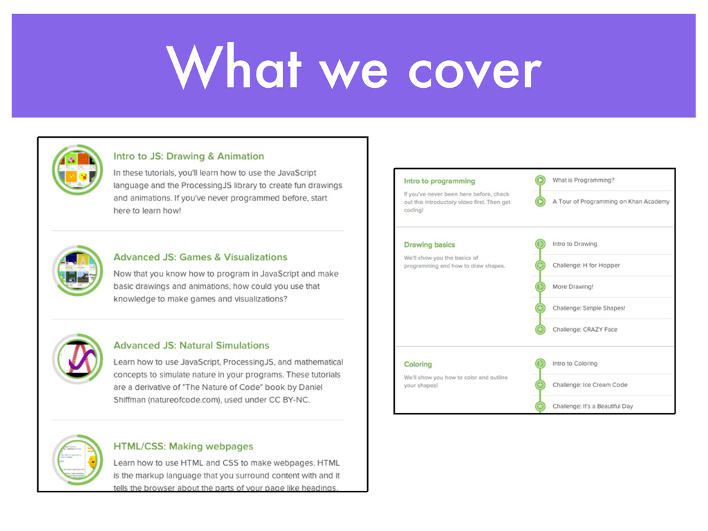 What we cover