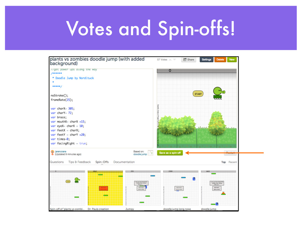 Votes and Spin-offs!