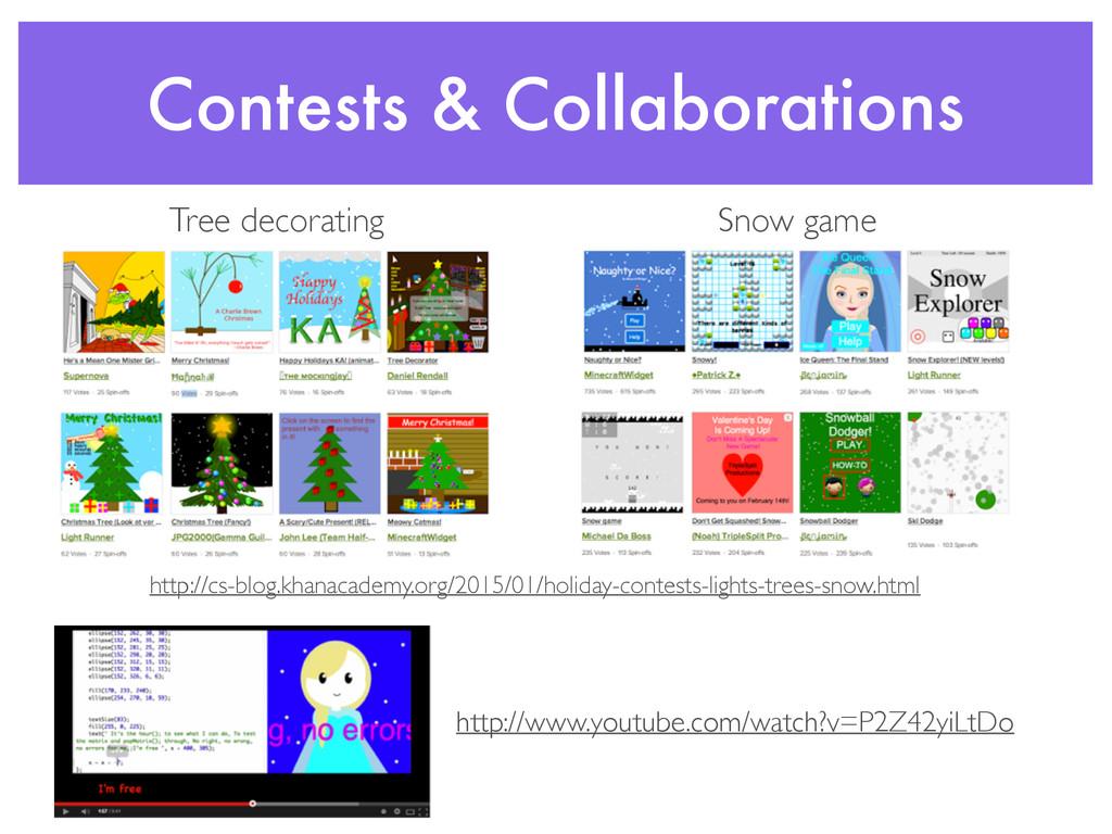 Contests & Collaborations http://cs-blog.khanac...