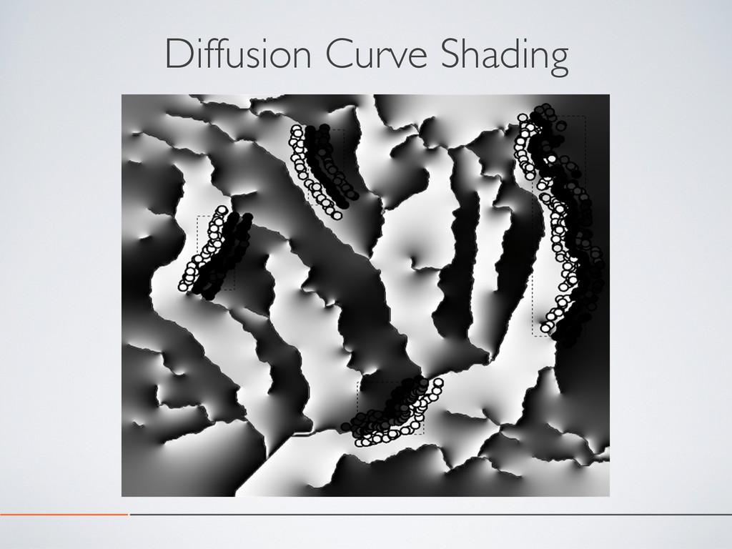 Diffusion Curve Shading