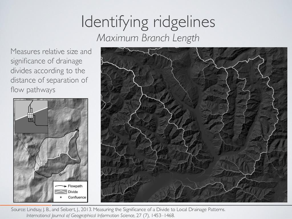 Identifying ridgelines