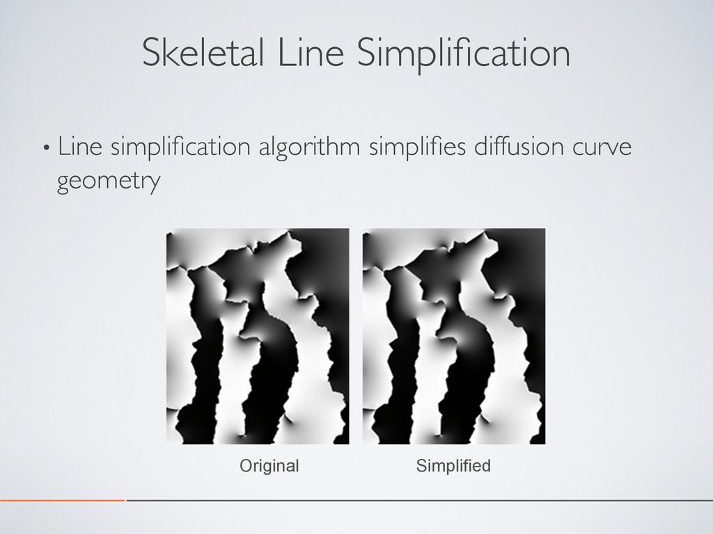 Skeletal Line Simplification •Line simplificatio...
