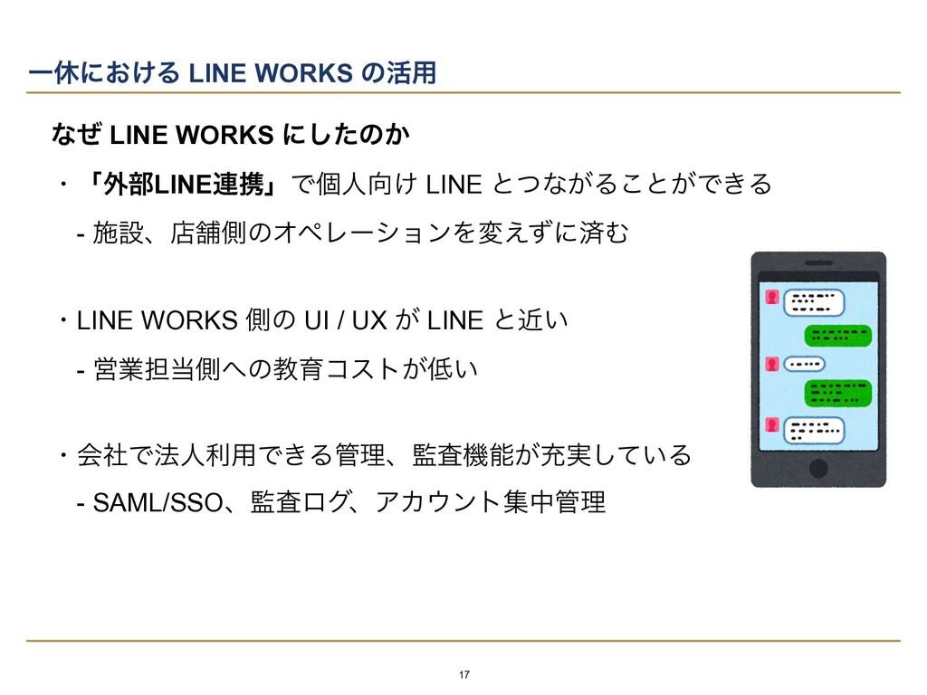 ͳͥ LINE WORKS ʹͨ͠ͷ͔   ɾʮ֎෦LINE࿈ܞʯͰݸਓ͚ LINE ͱͭͳ...