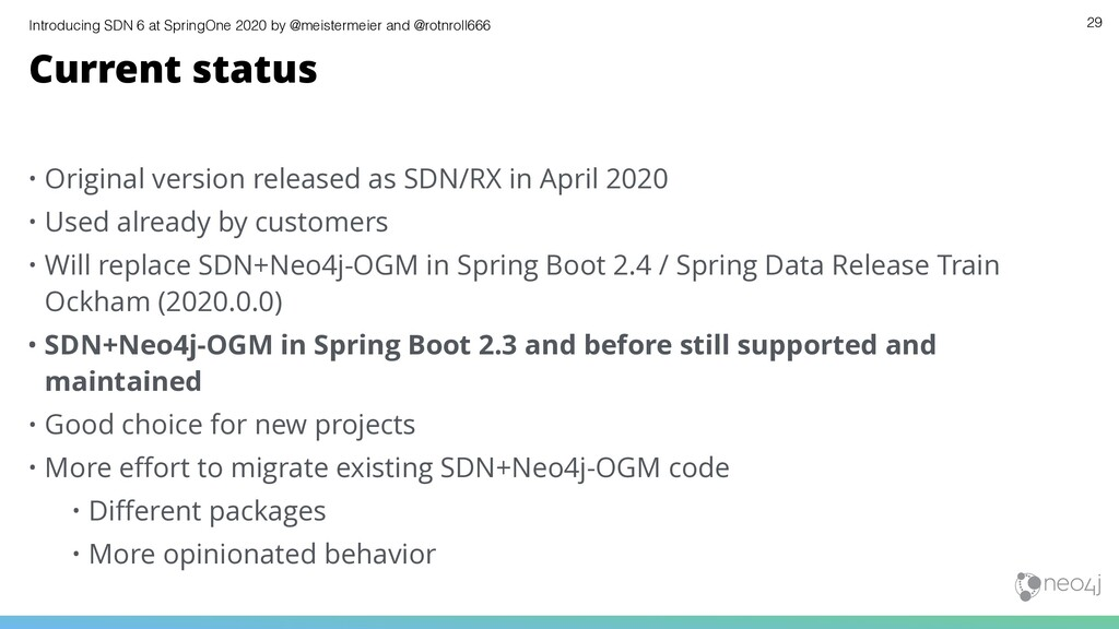 Introducing SDN 6 at SpringOne 2020 by @meister...