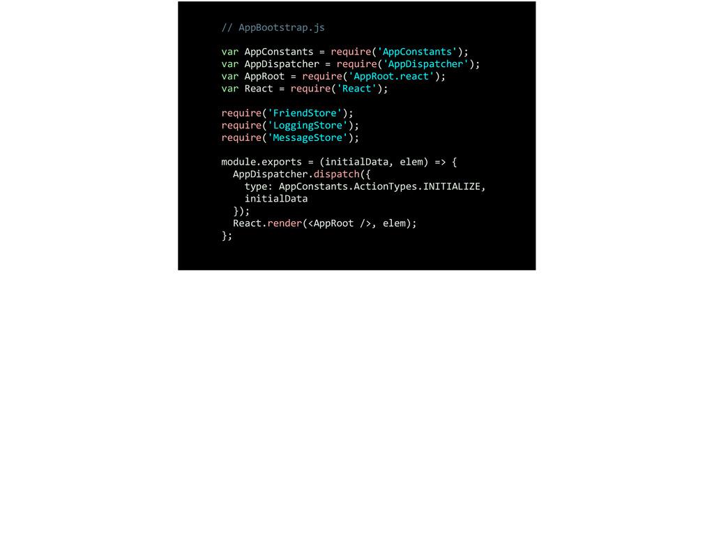 // AppBootstrap.js  ! var AppConstants...