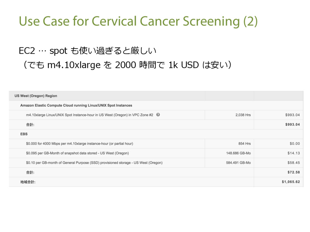 Use Case for Cervical Cancer Screening (2) EC2 ...