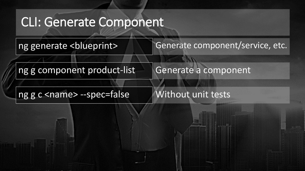 CLI: Generate Component ng generate <blueprint>...