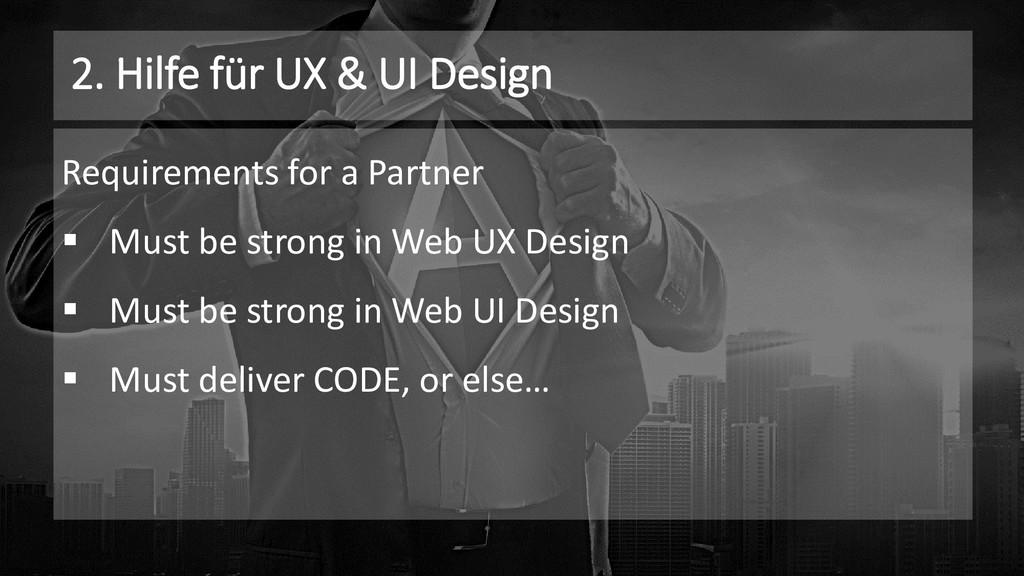 2. Hilfe für UX & UI Design Requirements for a ...