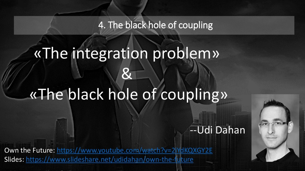 4. The black hole of coupling «The integration ...