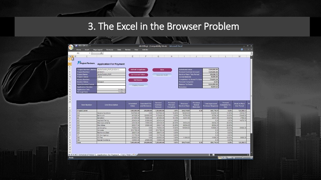 3. The Excel in the Browser Problem