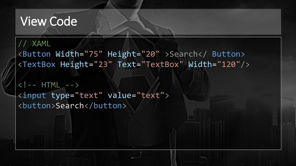 """View Code // XAML <Button Width=""""75"""" Height=""""20..."""