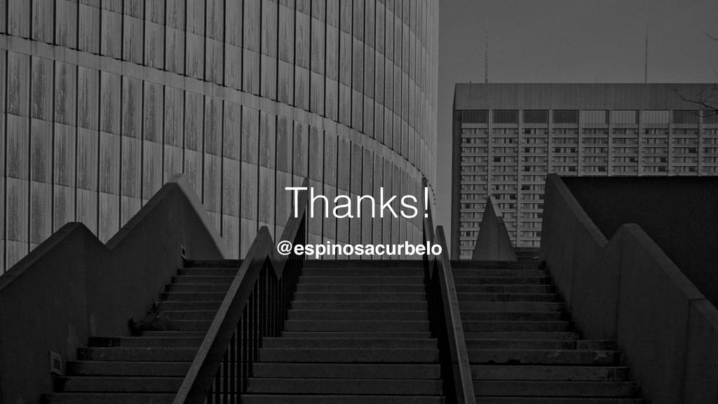 Thanks! @espinosacurbelo