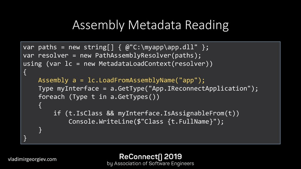 vladimirgeorgiev.com Assembly Metadata Reading ...