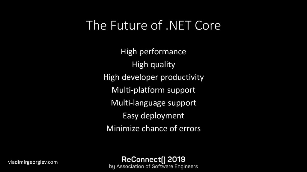 vladimirgeorgiev.com The Future of .NET Core Hi...