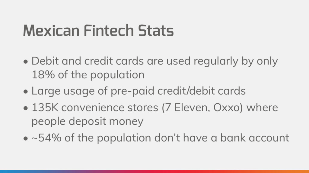Mexican Fintech Stats • Debit and credit cards ...
