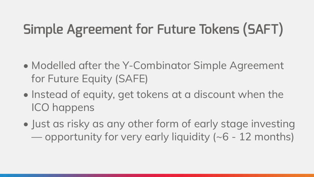 Simple Agreement for Future Tokens (SAFT) • Mod...