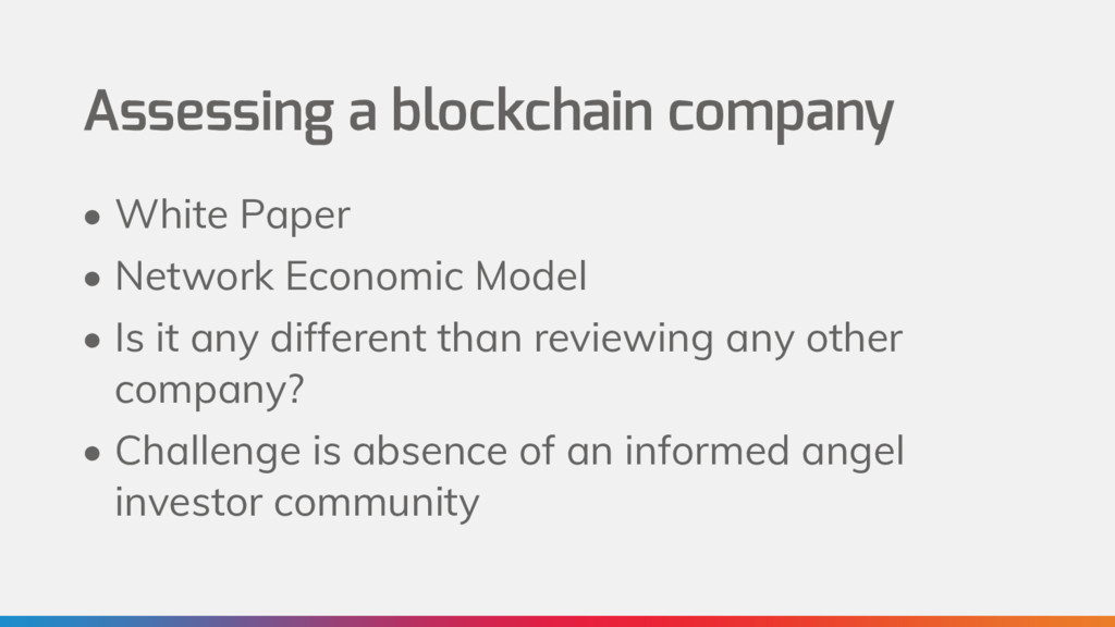 Assessing a blockchain company • White Paper • ...