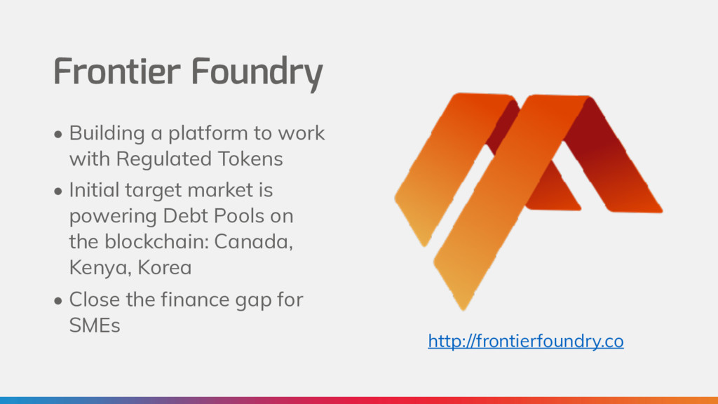 Frontier Foundry • Building a platform to work ...