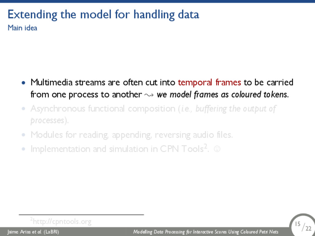 Extending the model for handling data Main idea...