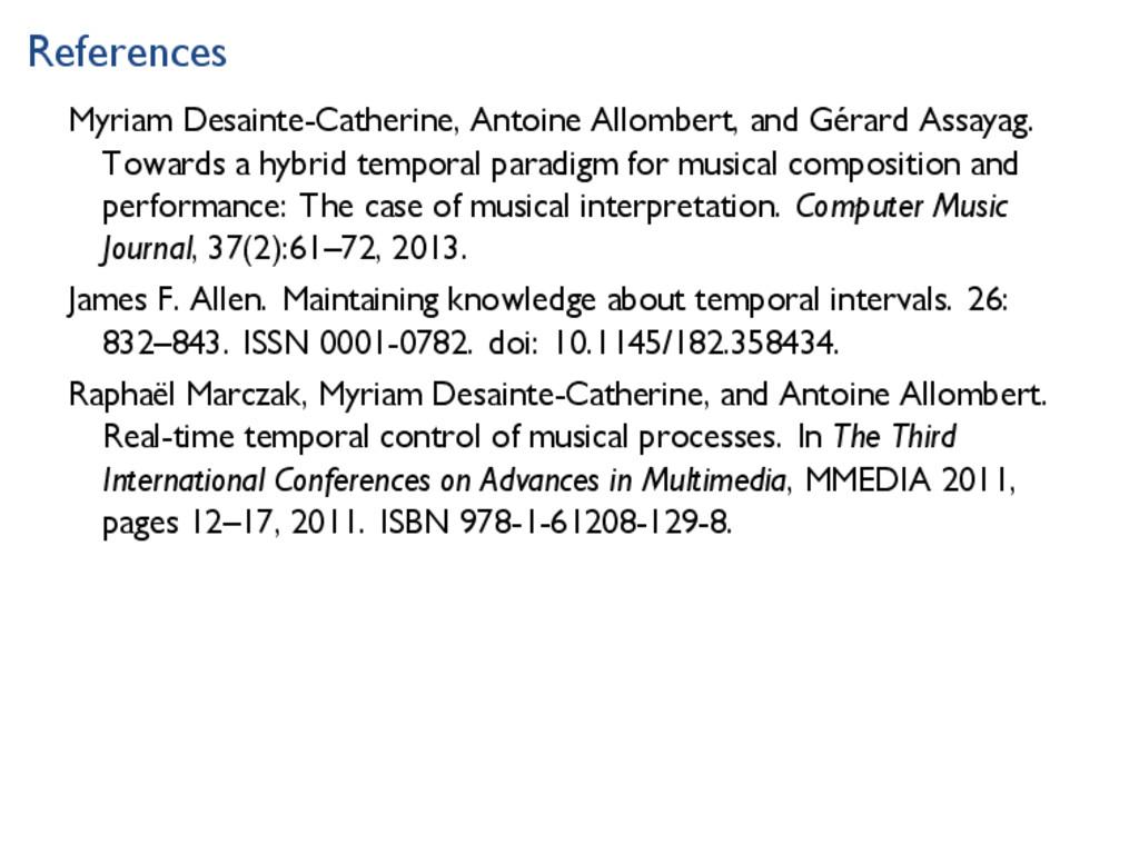 References Myriam Desainte-Catherine, Antoine A...