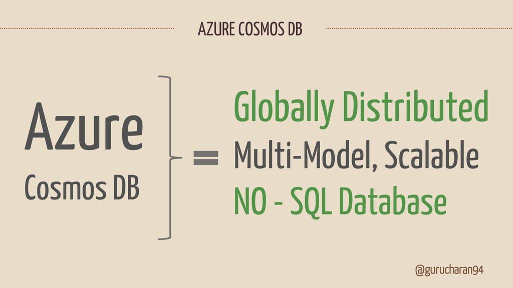 @gurucharan94 Azure Cosmos DB Globally Distribu...