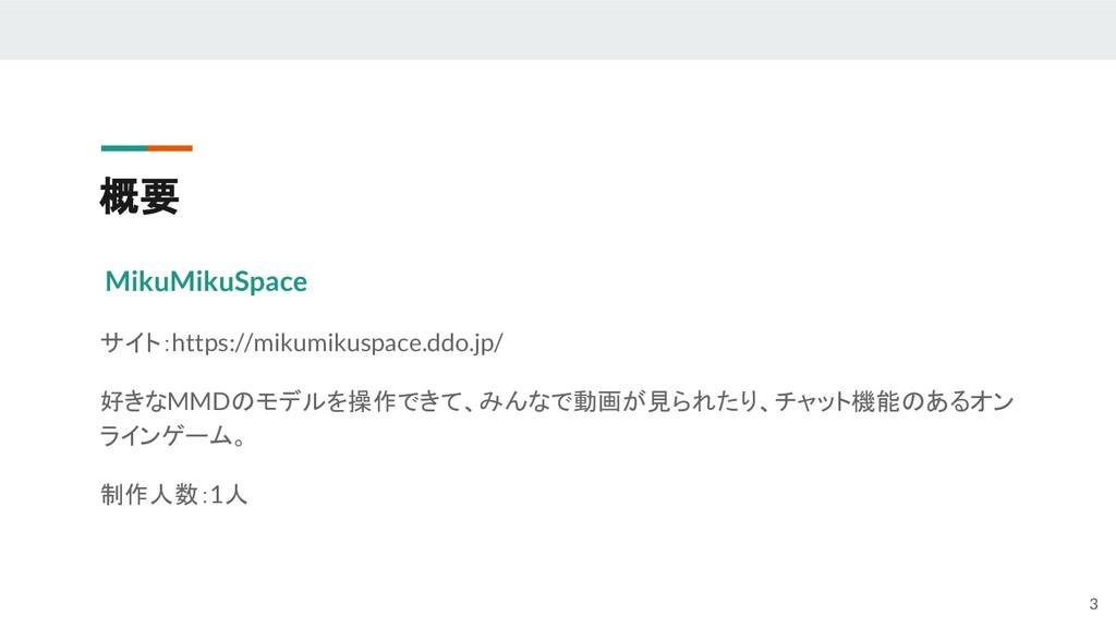 概要 MikuMikuSpace サイト:https://mikumikuspace.ddo....