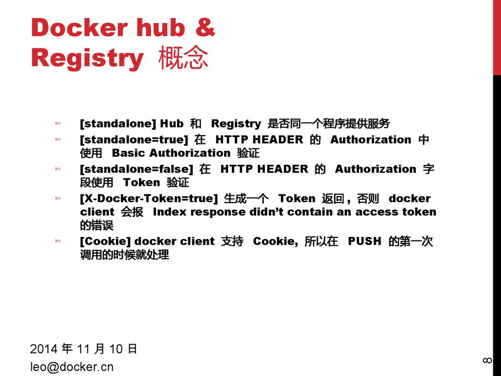 Docker hub & Registry 概念 2014 年 11 月 10 日 leo@d...
