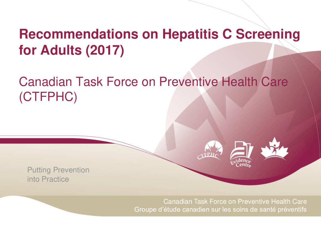 Putting Prevention into Practice Canadian Task ...