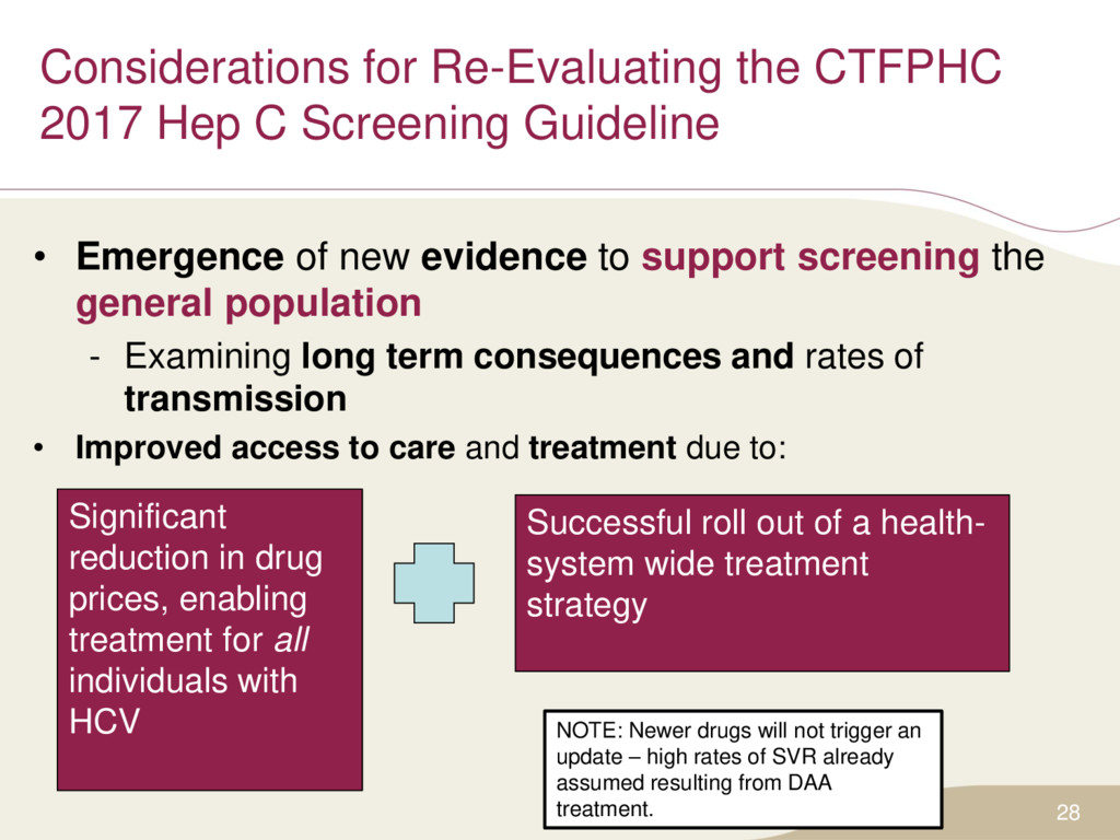 Considerations for Re-Evaluating the CTFPHC 201...