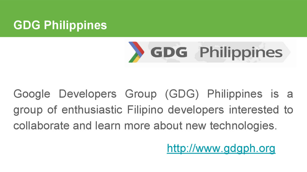 GDG Philippines Google Developers Group (GDG) P...
