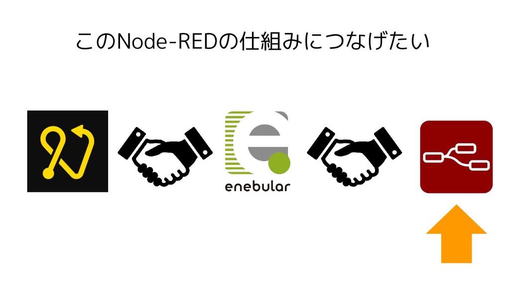このNode-REDの仕組みにつなげたい