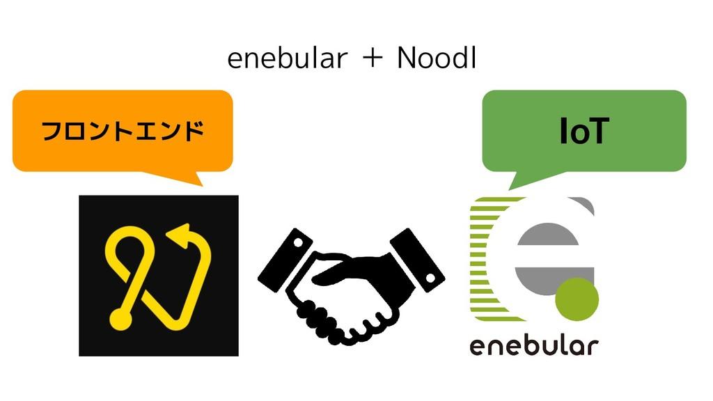 enebular + Noodl IoT フロントエンド