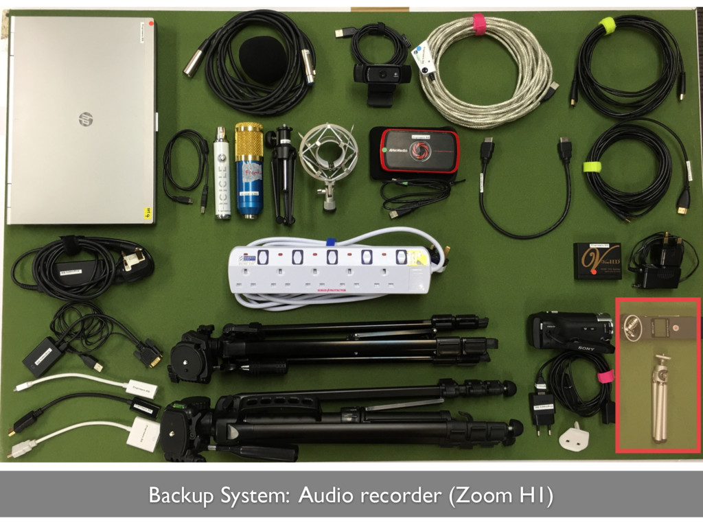 Backup System: Audio recorder (Zoom H1)
