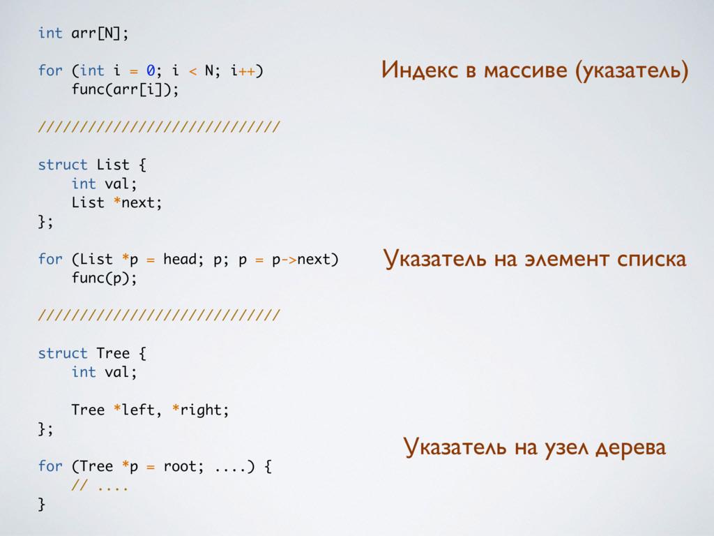 int arr[N]; for (int i = 0; i < N; i++) func(ar...