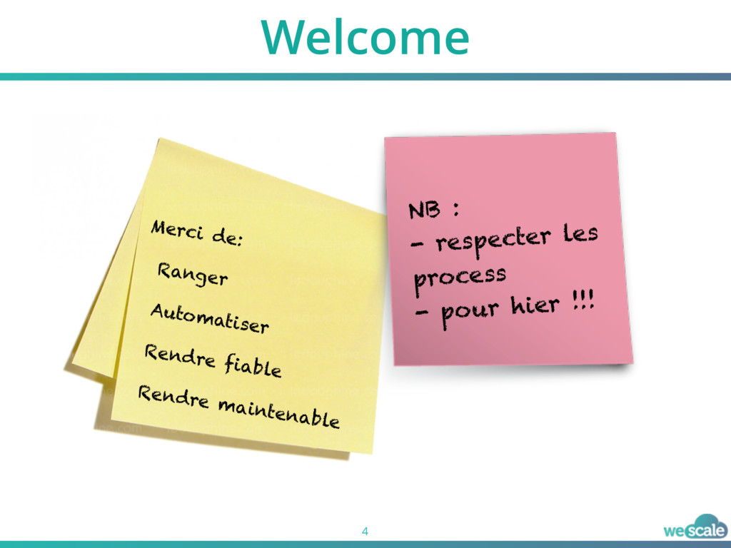 Welcome 4 Merci de: Ranger Automatiser Rendre f...