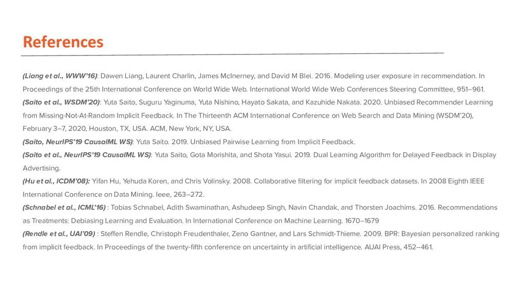 References (Liang et al., WWW'16): Dawen Liang,...