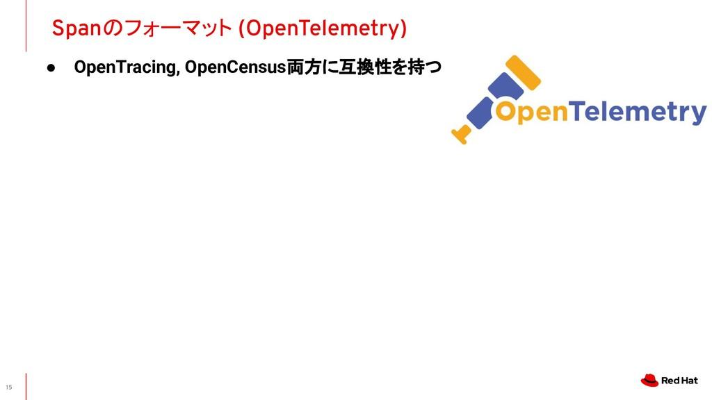 ● OpenTracing, OpenCensus両方に互換性を持つ Spanのフォーマット ...