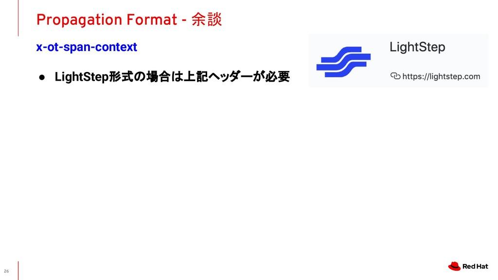x-ot-span-context Propagation Format - 余談 26 ● ...