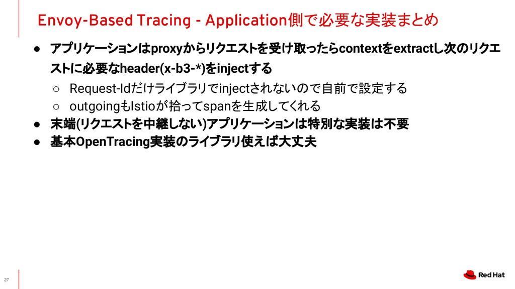 ● アプリケーションはproxyからリクエストを受け取ったらcontextをextractし次...