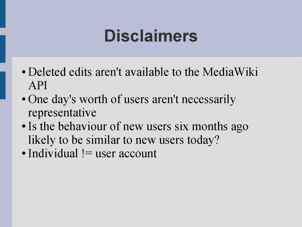 Disclaimers ● Deleted edits aren't available to...