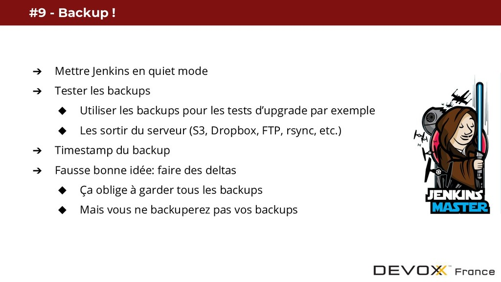 #9 - Backup ! ➔ Mettre Jenkins en quiet mode ➔ ...