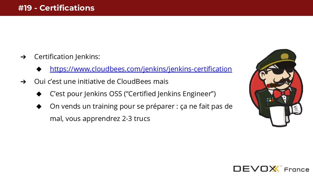 #19 - Certifications ➔ Certification Jenkins: ◆...
