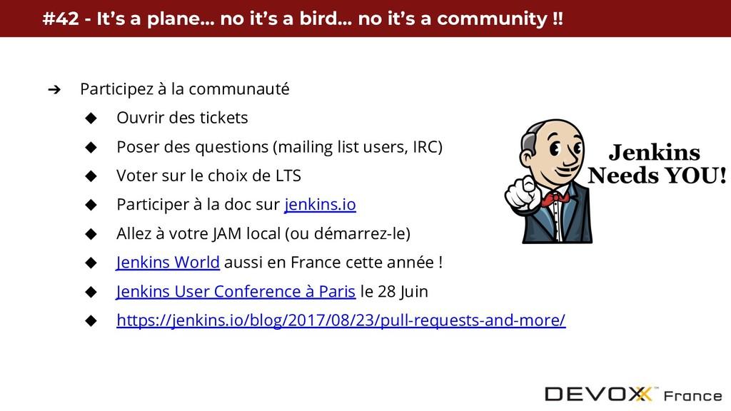 ➔ Participez à la communauté ◆ Ouvrir des ticke...