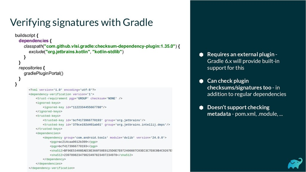 Verifying signatures with Gradle ⬢ Requires an ...