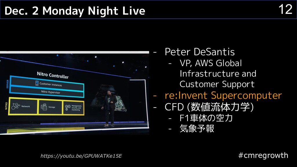 #cmregrowth 12 Dec. 2 Monday Night Live - Peter...