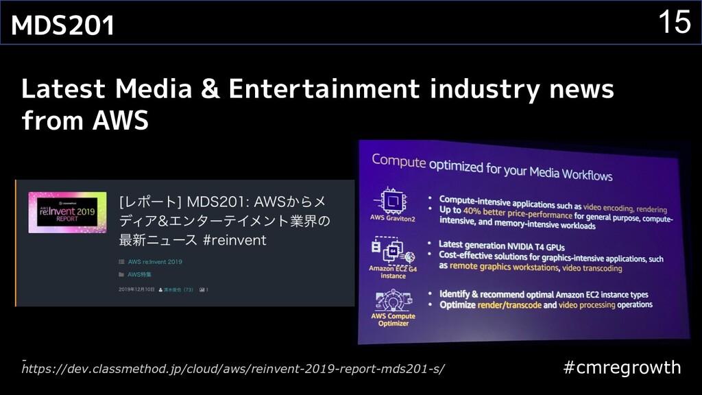 #cmregrowth 15 MDS201 Latest Media & Entertainm...