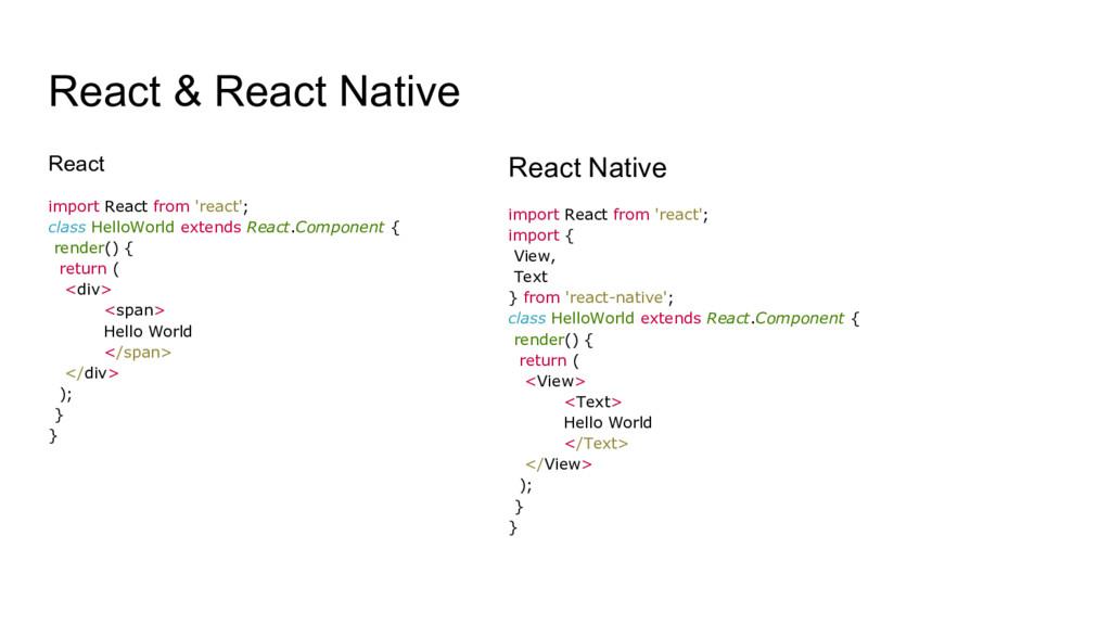 React & React Native React import React from 'r...
